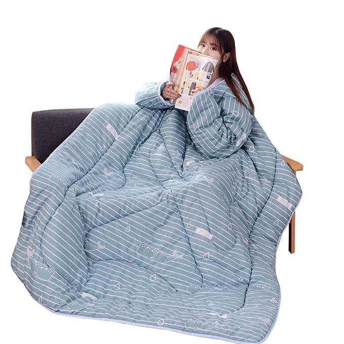 Amazon.com: Callm - Colcha de invierno con mangas, cálida y ...