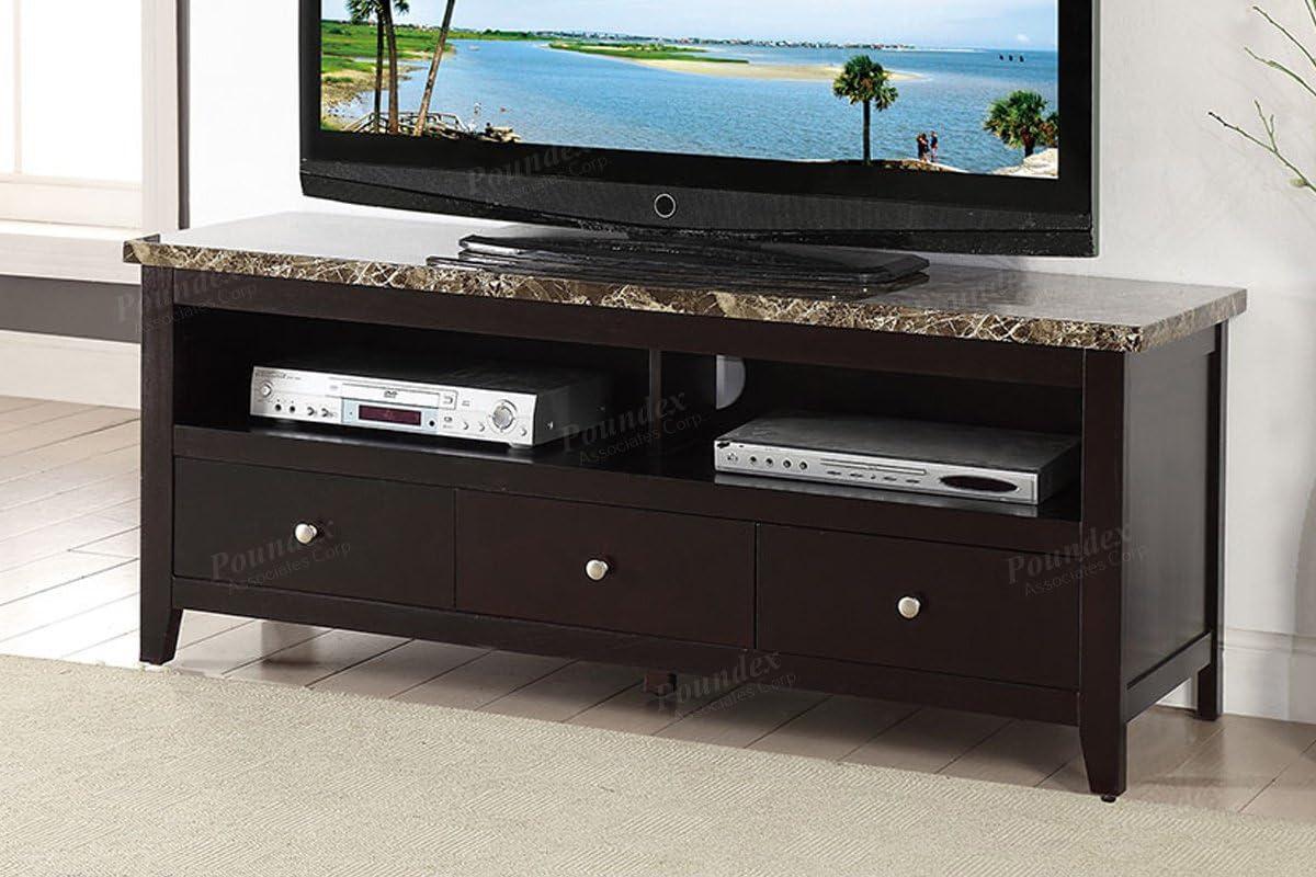 Poundex F4451 - Mueble de Madera para televisor (3 cajones, 2 estantes), Color marrón: Amazon.es: Juguetes y juegos