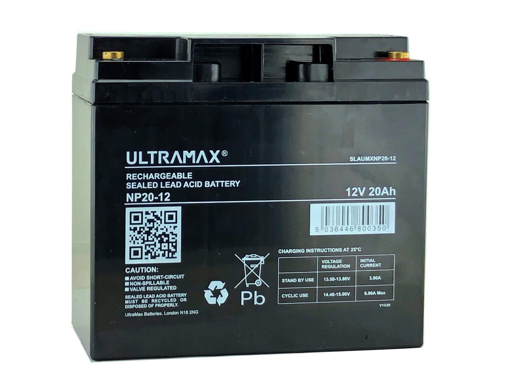 Ultramax 12V 20AH MOTORSPORT LIGHTWEIGHT 6KG RALLY/COMPETITION/RACING CAR BATTERY