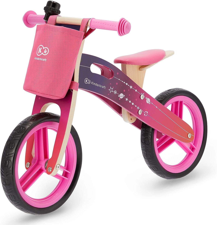Kinderkraft Bicicleta sin Pedales RUNNER, Ligera, Ajustable, 3 Años y más, Rosa