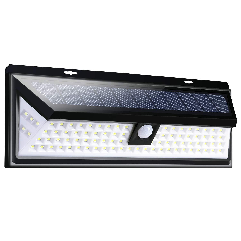 Jsunck Outdoor Solar Motion Sensor Light 90 LED 3 Modes Wide Angle Design, Ideal for Garden, Garage, Hallway, Back Yard