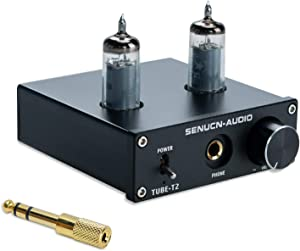 SUCA Audio Tube-T2 Headphone Amplifier, Upgrade Version Vacuum Tube Amplifier Buffer Mini Hi-Fi Stereo Amp, Compatible with Headphone & HiFi Audio Player