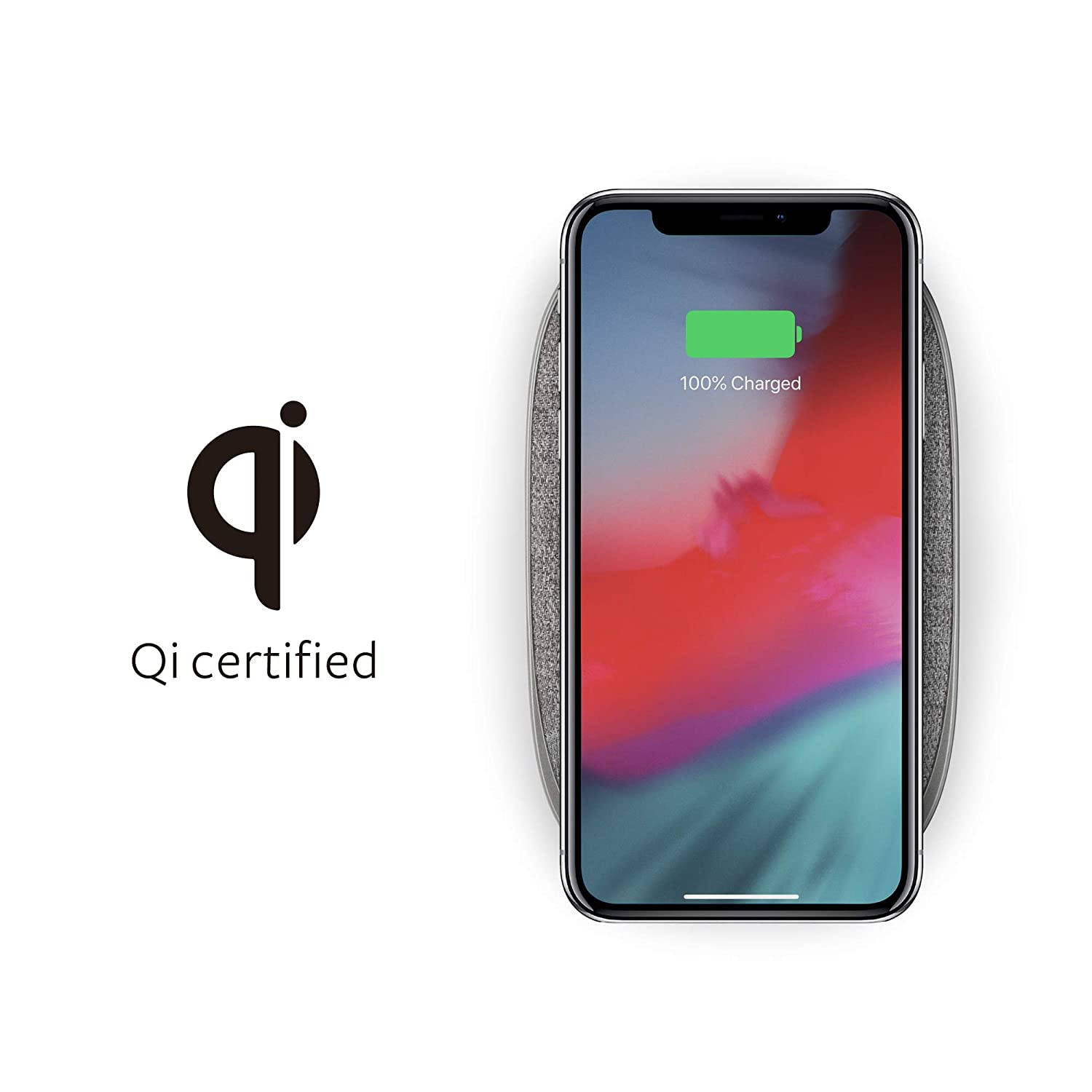 Moshi Porto Q 5K Portable Battery 5, 000 mAh with Built-in Wireless Charger Pad with Qi, with USB-C and USB-A, No Wall Charger Include