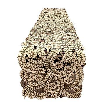 Multi-Table Caminos de Mesa Table Cloth Manteles Moda Tela Mantel Bordado Mesa de café Mueble de TV Toalla de la Cubierta del aparador: Amazon.es: Hogar