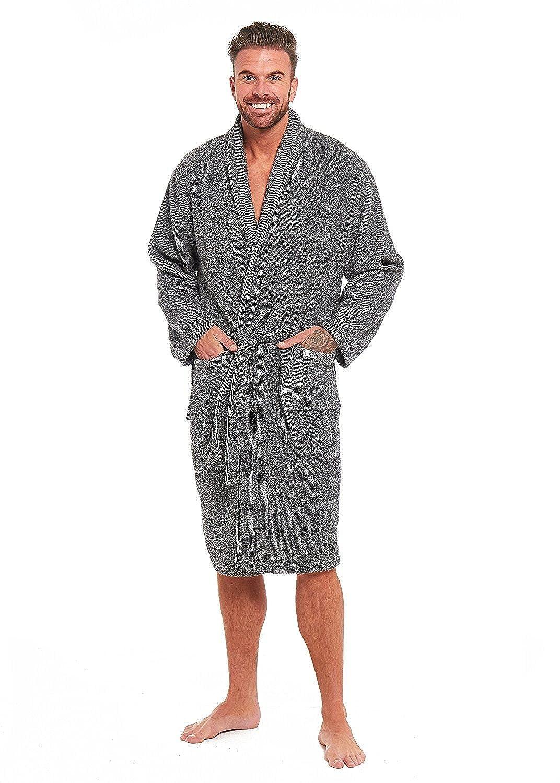 26edf3683f Mens Luxury Super Soft Fleece Dressing Gown Bath Robe Hooded Thick Warm  Snuggle  Amazon.co.uk  Clothing