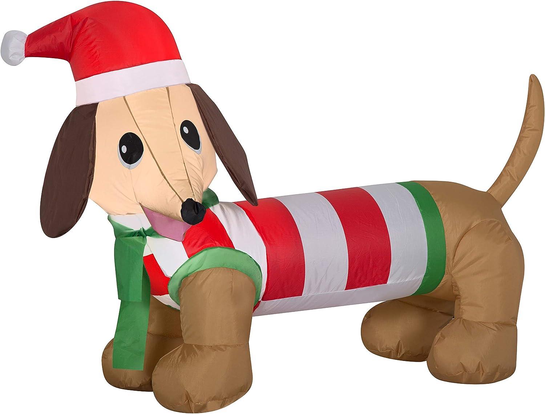 Yard Inflatables Weiner Dog, 4 ft