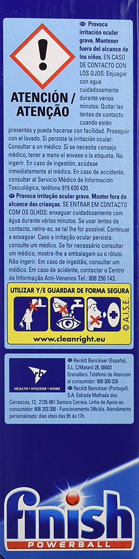 Finish Classic Regular Pastillas para Lavavajillas - 57 Pastillas, 5 paquetes: Amazon.es: Salud y cuidado personal