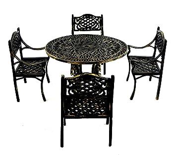 Melody Jane Poupées Fer Forgé Gathering Table & Chaises Meuble ...