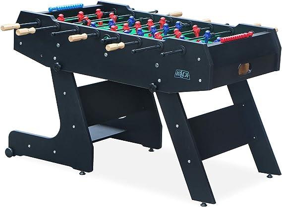 Kick Majesty 55 In Folding Foosball Table Black Sports Outdoors Amazon Com