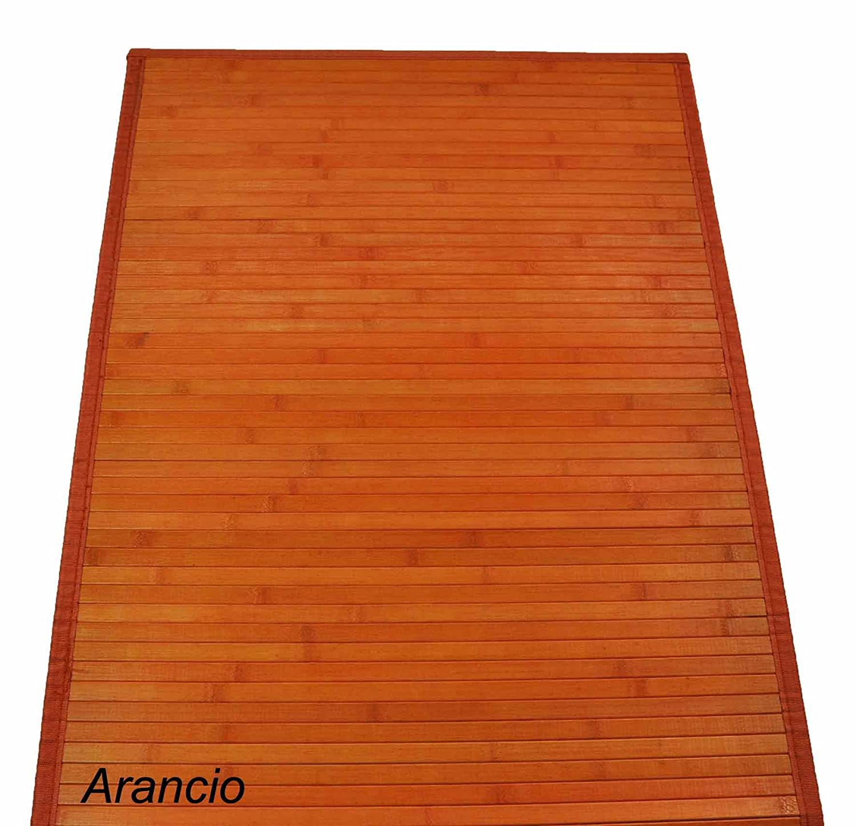 CASA TESSILE Bamb/ù liscio Tapis 60 x 100 cm Arancio