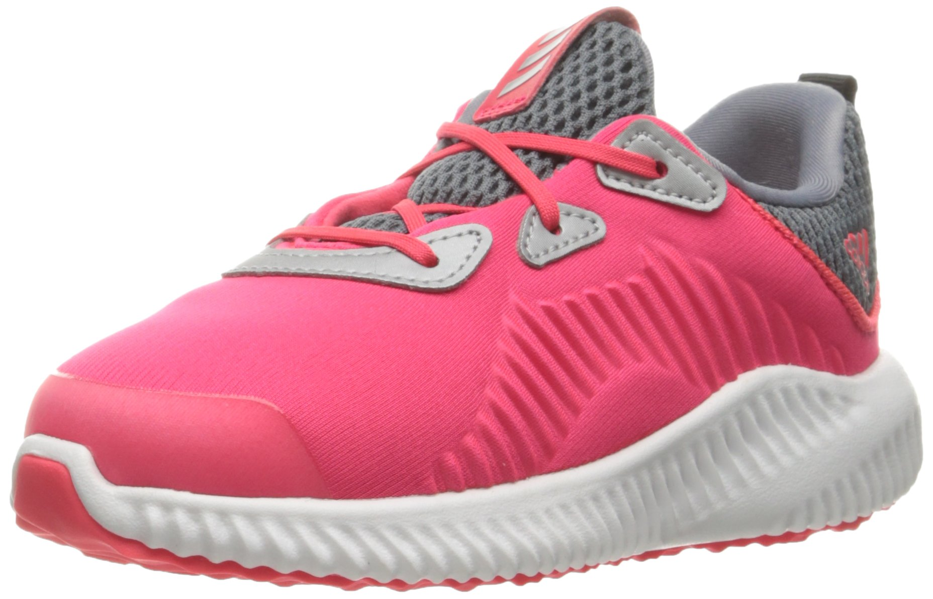 adidas Kids' Alphabounce Sneaker, Shock Red/White/Tech Grey Fabric, 6 M US Infant