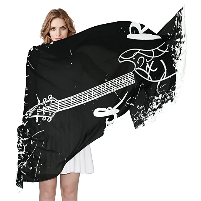 COOSUN Guitarra eléctrica y las letras rollo de la roca en el fondo de Grunge Ligera