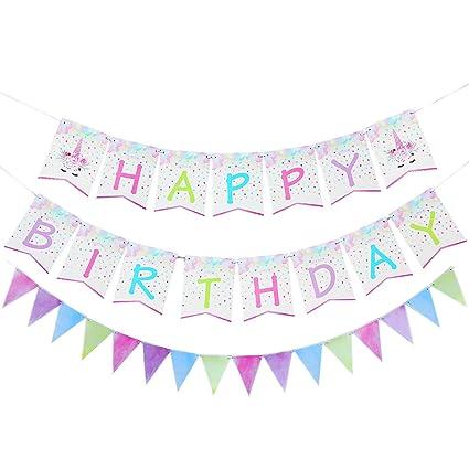 Amazon.com: WERNNSAI - Banderines de cumpleaños y pingüino ...