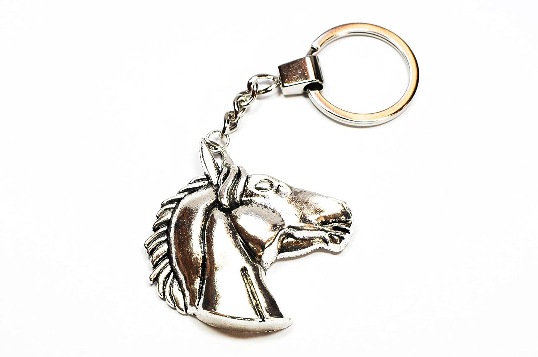 Familienkalender Pferdekopf Pferd Schlüsselanhänger Metall Silber