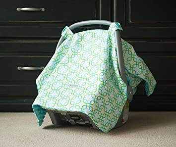 Carseat Canopy (Hayden) Baby Infant Car Seat Cover W/attachment Straps and Minky : car seats canopy - memphite.com