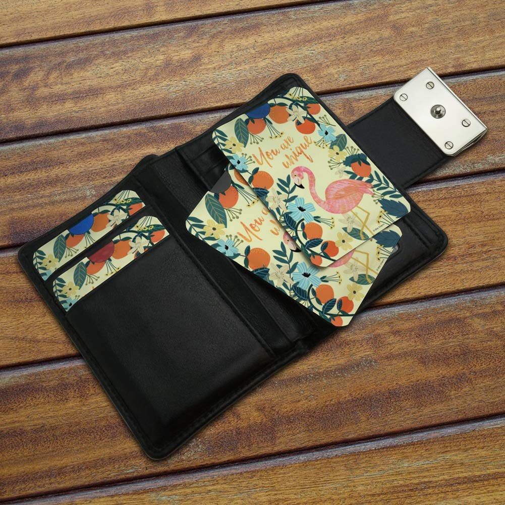 You are Unique Flowers Flamingo Credit Card RFID Blocker Holder Protector Wallet Purse Sleeves Set of 4
