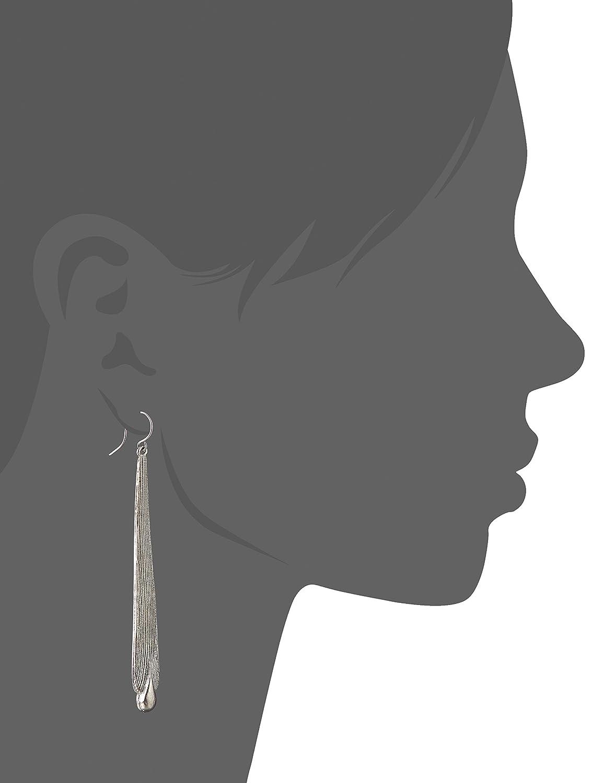 eb28578841d40 Yochi Silver-Plated Linear Tear Drop Earrings