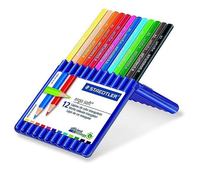 Amazon.com : STAEDTLER 132952 - Ergosoft Coloured Pencils ...