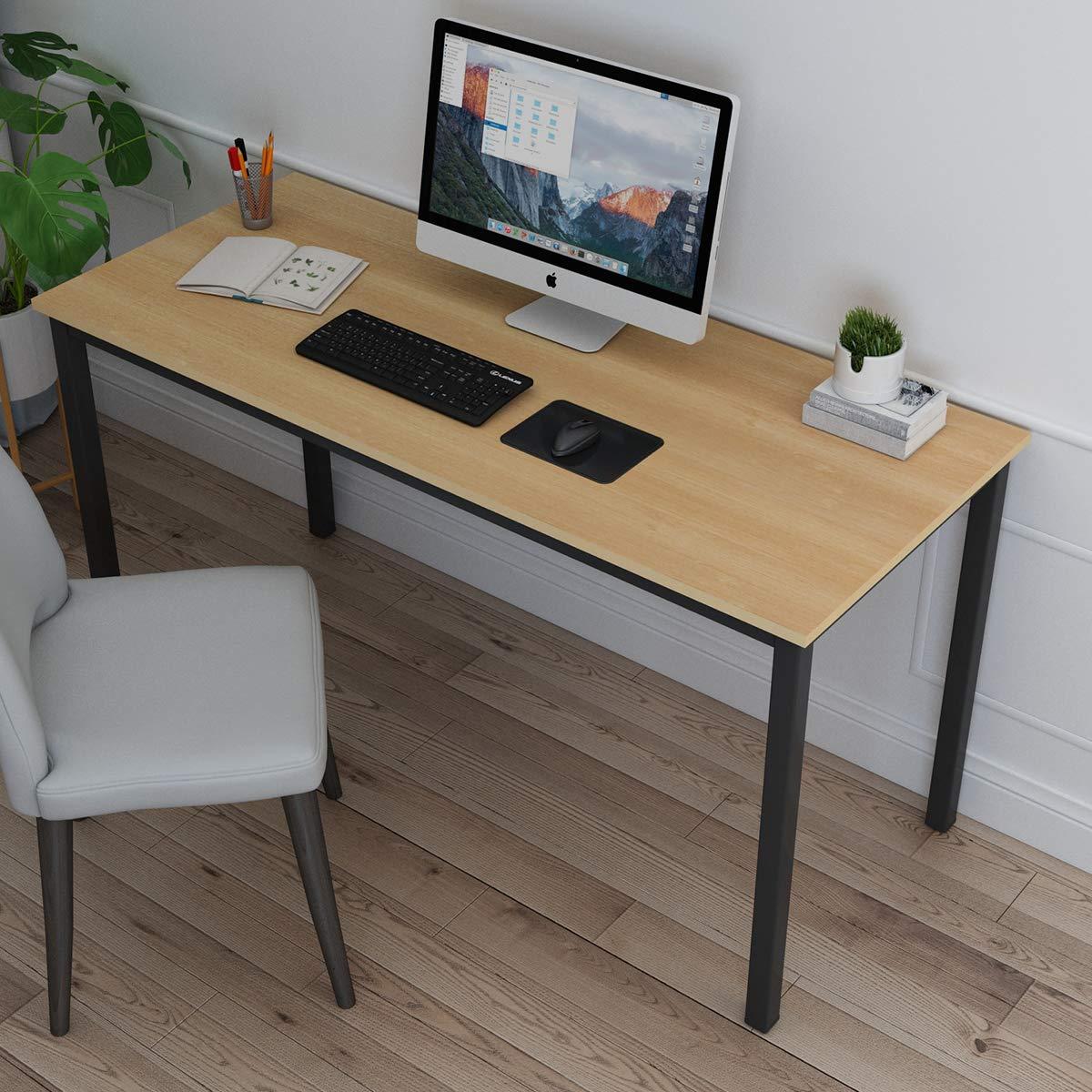 Bureau dordinateur Table Informatique Meuble de Bureau pour Ordinateur pour Salle /à Manger,Salon,Cuisine 120x60CM,Oak