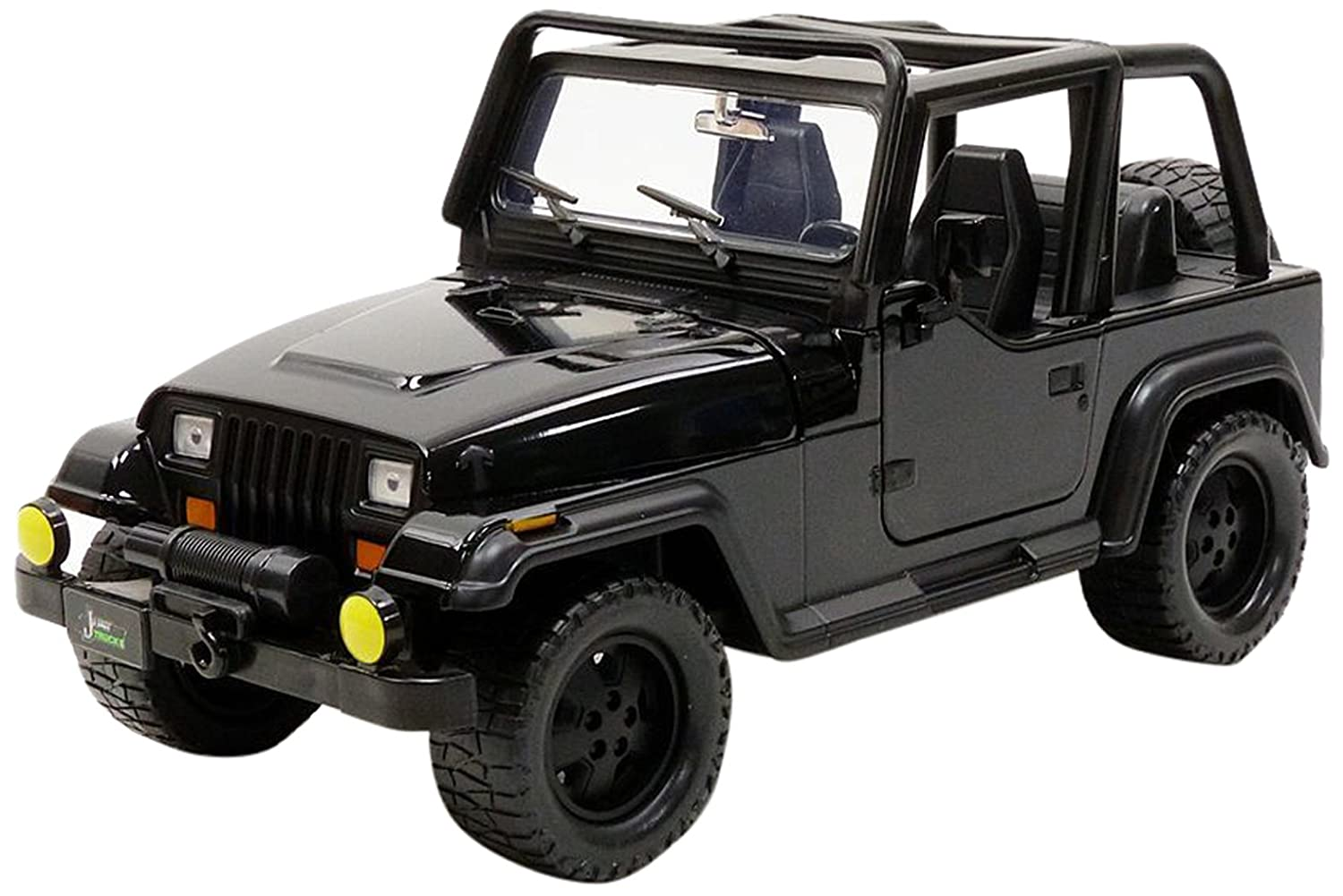 Jada 98083 1992 Jeep Wrangler Black 1 24 Diecast Model Car