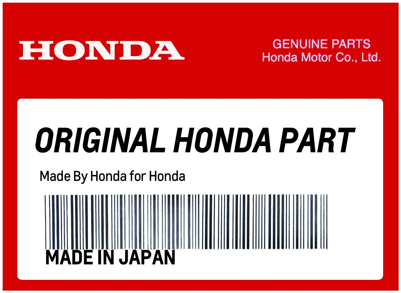 HONDA 87586-KGF-900 LABEL, FUEL