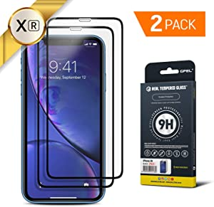 GPEL Screen Protector for iPhone XR/iPhone 11 Compatible Premium Japanese Asahi Real Tempered Glass Case-Friendly Work with Most Case, [HD Clarity], 9H Hardness, Oleophobic Coating (2-Pack)