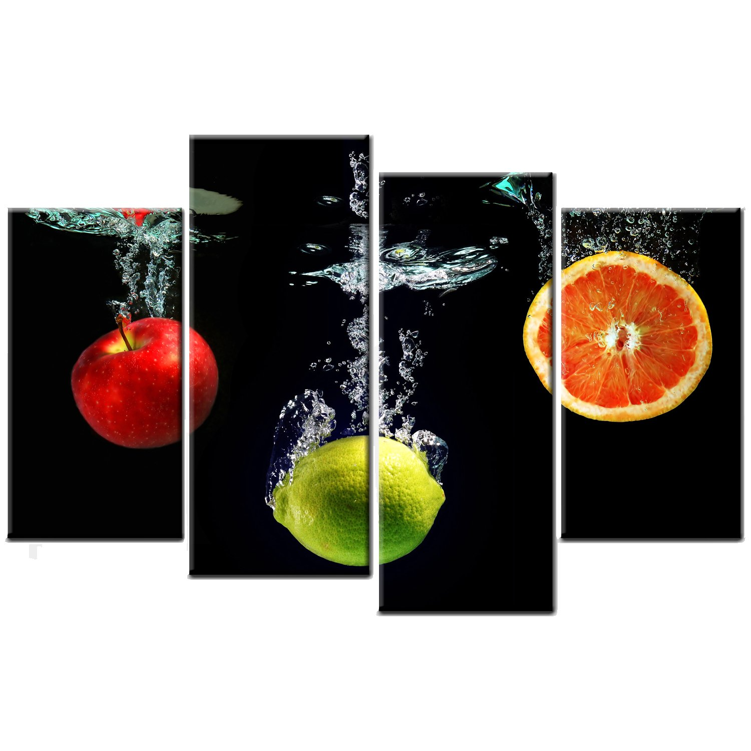 fruit splash kitchen canvas picture print wall art amazon co uk