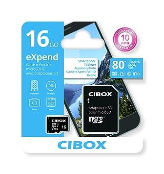 Cibox eXpend 16 GB Tarjeta de Memoria Micro-SD con Adaptador SD ...