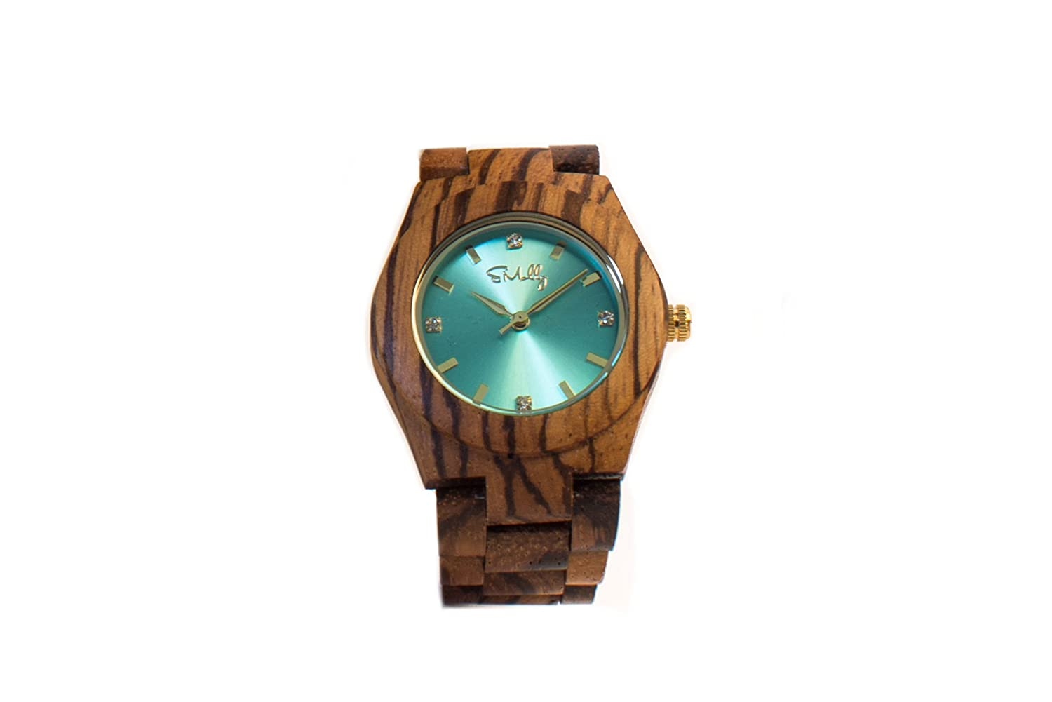 emolly womens zebra wood with turquoise water