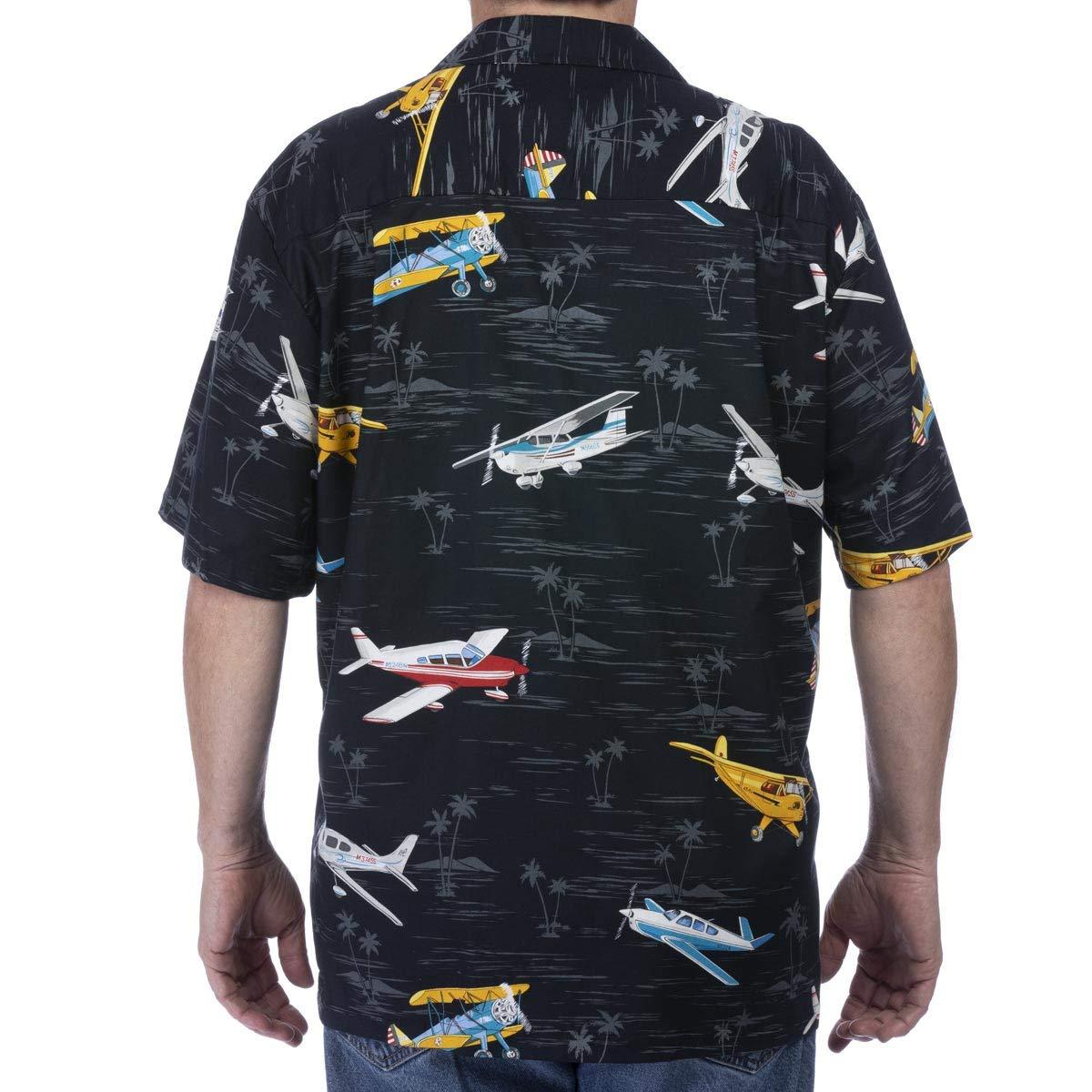 3a95cac8 Pilot Pilots Shirt Airplane Plane Aviator Flying Hawaiian Button Up Camp at  Amazon Men's Clothing store: