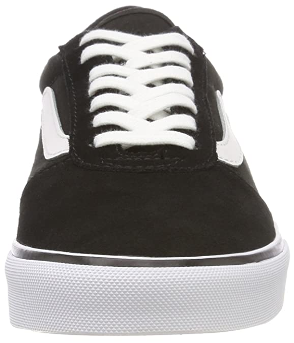 Amazon.com | Vans Maddie Suede/Canvas Shoes - Black/White UK 7 | Fashion Sneakers