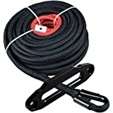 95x3//8 w//Snap Hook and Rubber Stopper for 4x4//Off-road//ATV//Jeep//etc. Synthetic Winch Rope Kit