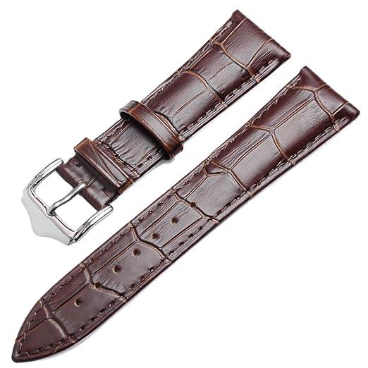 Correas de Reloj Banda de Reloj de Cuero Genuino Suave Correa 19 19 20 21 22 24 mm Accesorios de Reloj Relojes Pulsera Adecuado para Relojes de Hombre y ...