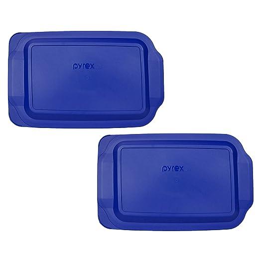 2) Pyrex 233-PC 3 cuartos azul 9 x 13 pulgadas bandeja para ...