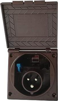 Cee Steckdose Für Wohnmobil Caravan Bzw Wohnwagen Farbe Braun Einbaustecker Einbausteckdose Stromanschluss Einspeisungsstecker Einspeisungssteckdose Anschlussdose Auto