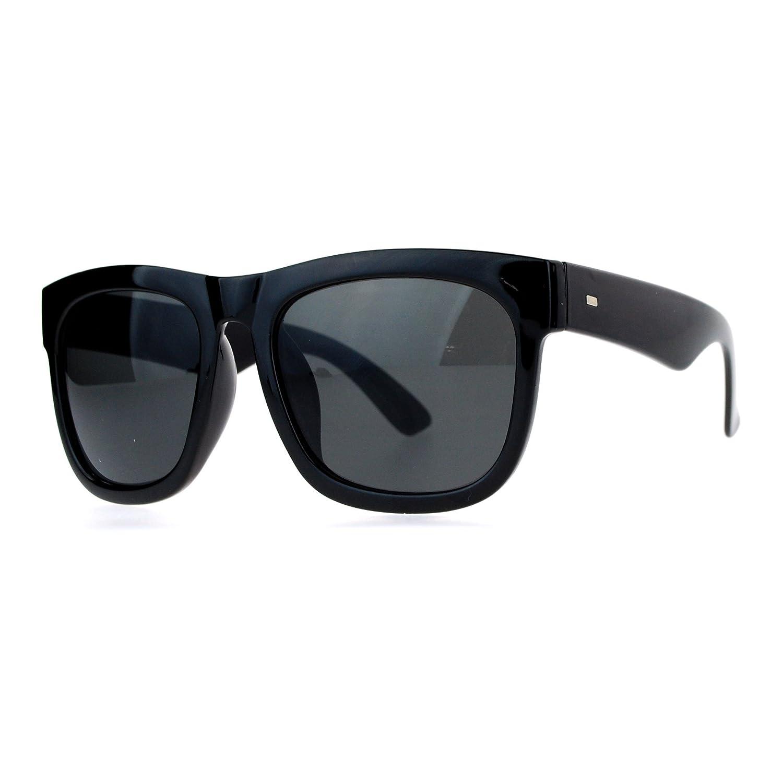 SA106 Mens Hard Minimal Oversize Horn Rim Hipster Sunglasses