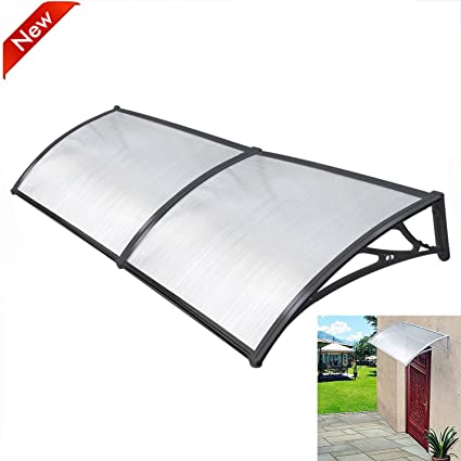 the latest 8f003 060d2 Popamazing Outdoor Cover Door Window Garden Canopy Patio Porch Awning  Shelter - Multiple Size & Colour (Black, 190 * 100cm)