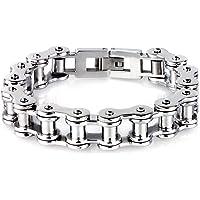 LDUDU® Men's Bracelet bicycle chain bracelet motorbike chain Stainless Steel Silver Polished gift for Valentine Gebutrstag, Christmas