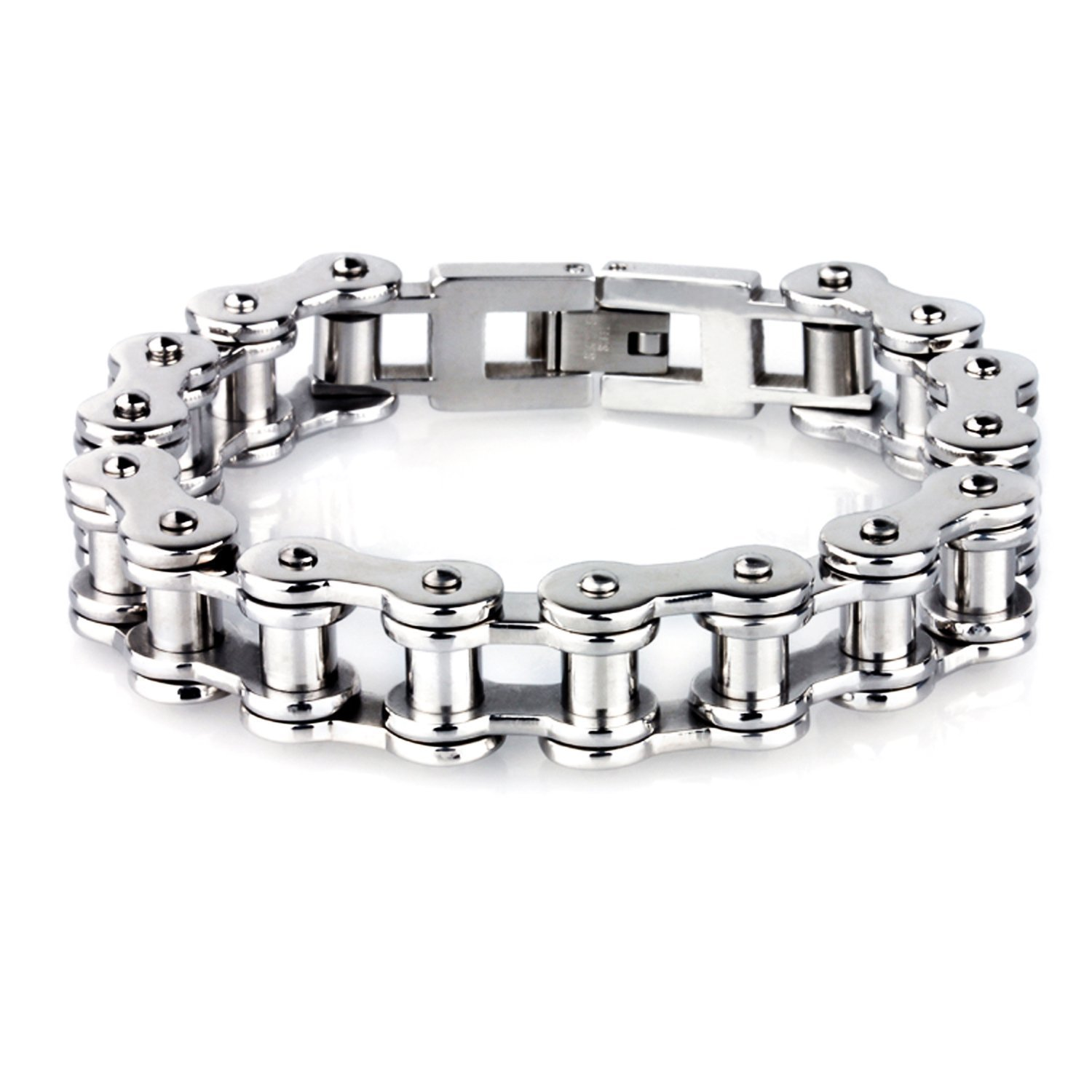 LDUDU® Men's Bracelet bicycle chain bracelet motorbike chain Stainless Steel Silver Polished gift for Valentine Gebutrstag, Christmas 850140000