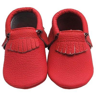 49af15eaa7eac Mejale Baby Soft Soled Leather Moccasins Tassel Slip-on Infant ...