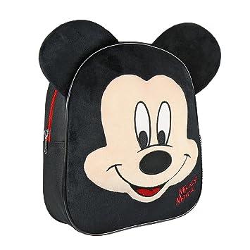 Mochila infantil de Mickey Mouse 100% Licencia Original/Mochila Escolar Disney, Medidas 23x28x9cm Color Negro: Amazon.es: Equipaje