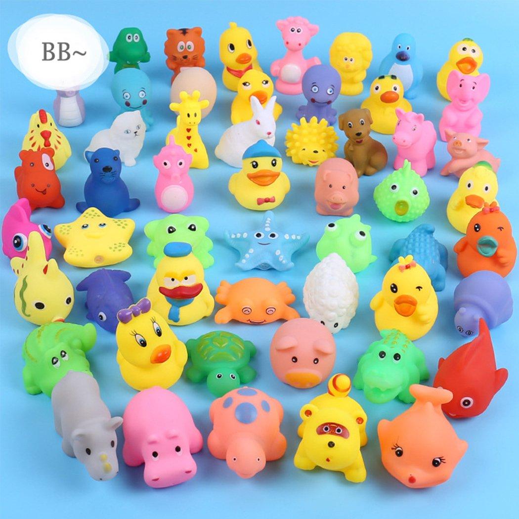 comfi1 Animals Kids Toy Soft Vinyl Float Sqeeze Sound Baby Wash Bath Play Toy