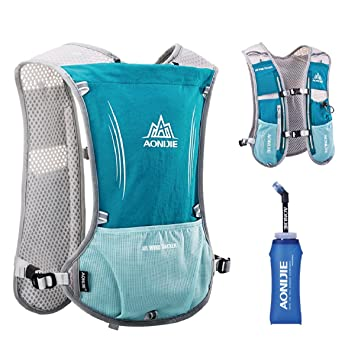 TRIWONDER Mochila Hydration Pack 5L Marathoner Running Chaleco Hydration Race (Azul Claro): Amazon.es: Deportes y aire libre