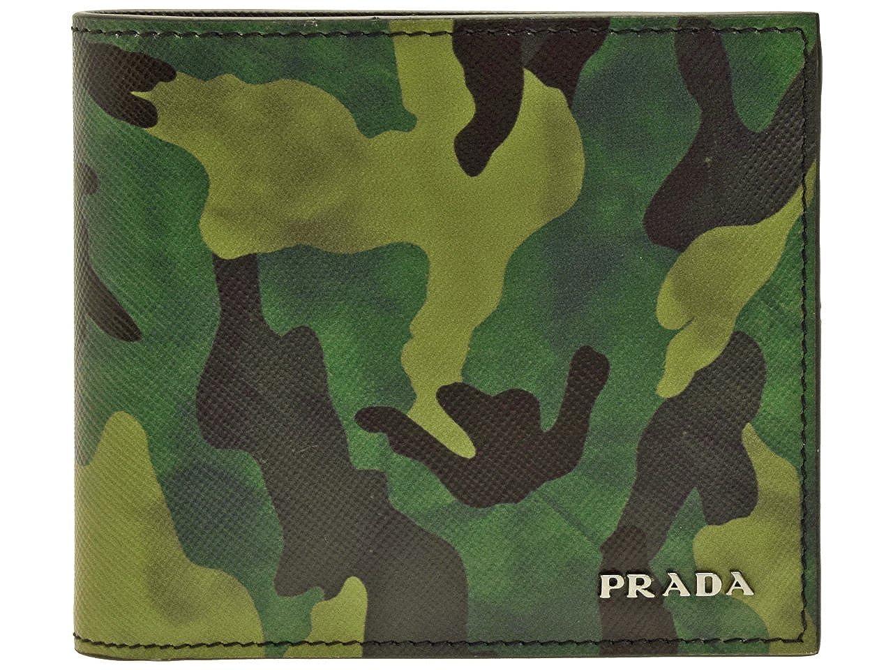 (プラダ) PRADA 財布 二つ折り メンズ ナイロン カモフラージュ 迷彩 2MO738 アウトレット [並行輸入品] B07C4QQ6W6