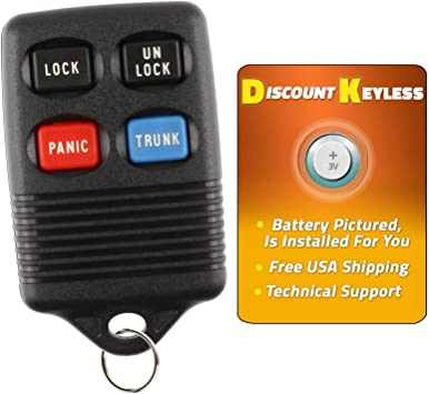 Discount Keyless Replacement 3 Button Automotive Keyless Entry Remote Control Transmitter 15913420 and a Replacement Transponder Key LYSB00V523CGQ-ELECTRNCS