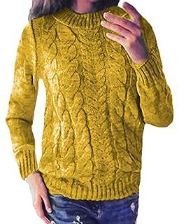 ZANZEA Mujer Suéter Camisa Cuello Redondo Crochet Elegante Larga Casua Sudadera Pullover Blusas Jersey Tops Mujer: Amazon.es: Ropa y accesorios