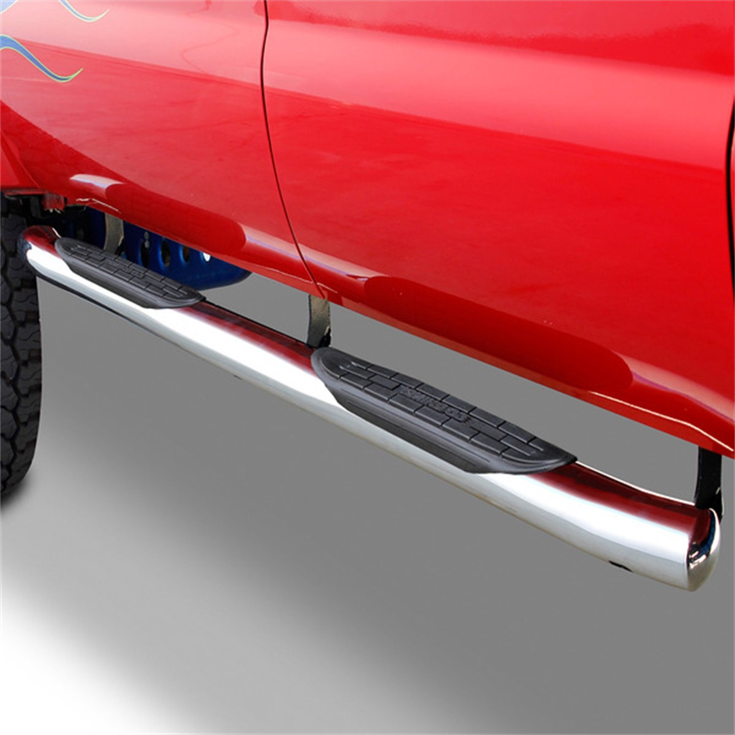 Go Rhino 67126PS 4 Oval OE Xtreme Side Bar with Welded In End Cap