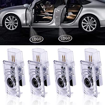 4Pcs LED Car Logo Lights Ghost Light Door Light Projector Welcome Accessories Emblem Lamp For Cadillac Series: Automotive