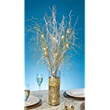 Darice Tutera 30-Inch  12 LED Lighted Branch Spray, Gold