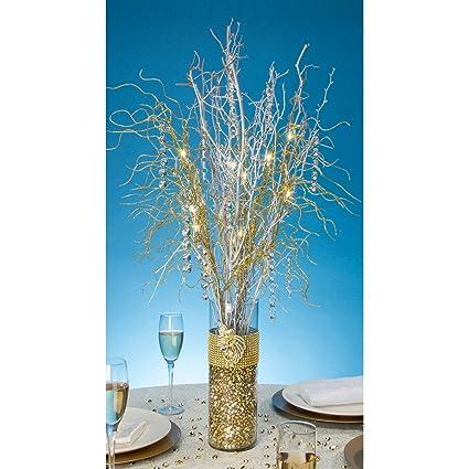 Amazon Darice Tutera 30 Inch 12 Led Lighted Branch Spray Gold